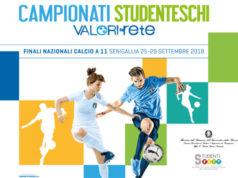 La locandina dei campionati studenteschi di calcio 2018 a Senigallia