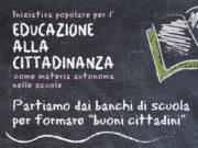 La locandina per la proposta di legge sull'educazione alla cittadinanza