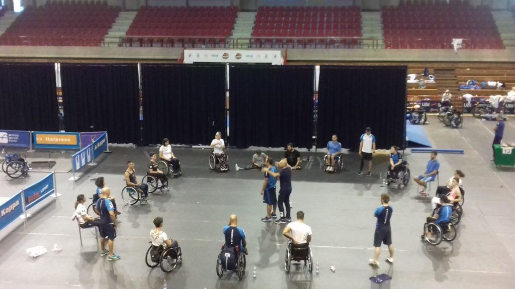 Ultimo allenamento al PalaTriccoli per la Nazionale italiana paralimpica di scherma
