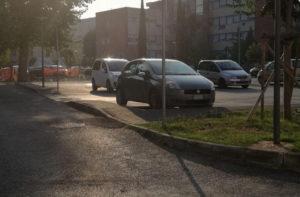 I parcheggi in zona Campo Boario, a Senigallia