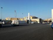 I parcheggi davanti lo stadio Bianchelli di Senigallia