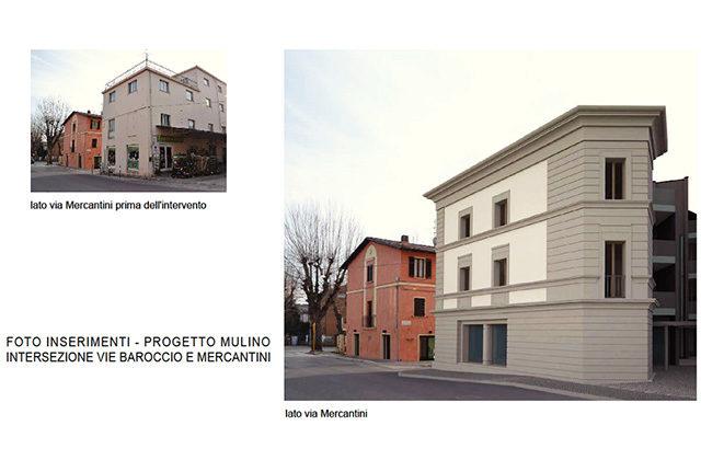 Il progetto di riqualificazione dell'ex mulino Tarsi a Senigallia tra via Baroccio e via Mercantini