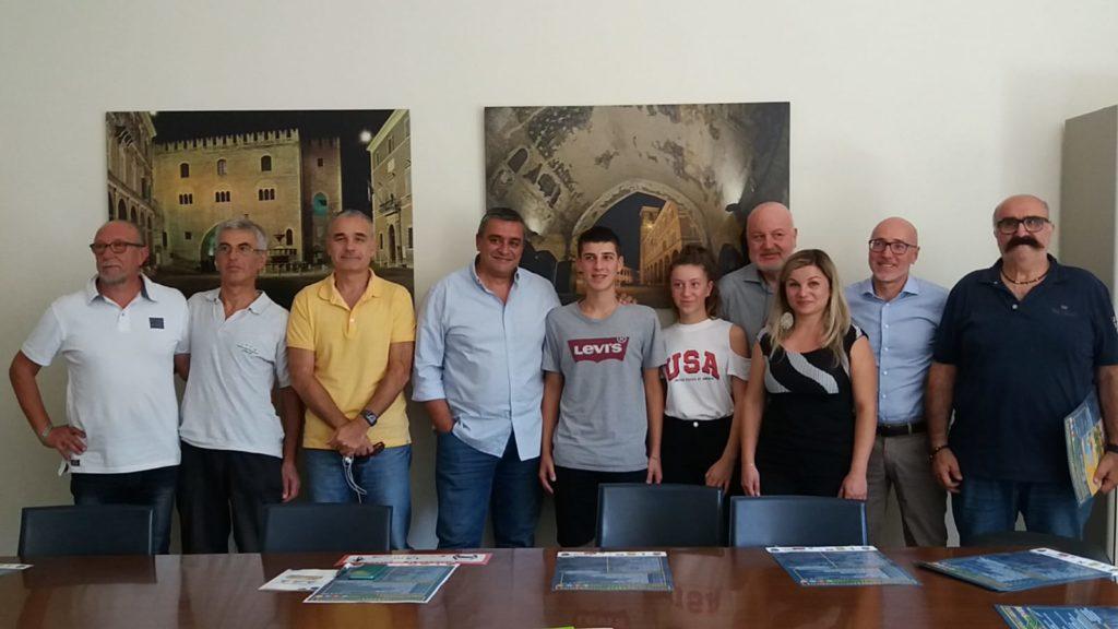Il vicesindaco di Fabriano, Ioselito Arcioni, e chi ha partecipato alla stesura del programma delle iniziative