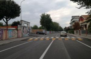 Via Cellini, a Senigallia: rifatto il manto stradale e realizzati gli attraversamenti pedonali rialzati