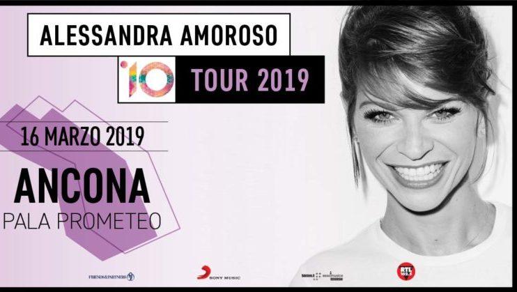 Alessandra Amoroso celebra i 10 anni di carriera con un nuovo album. Concerto ad Ancona