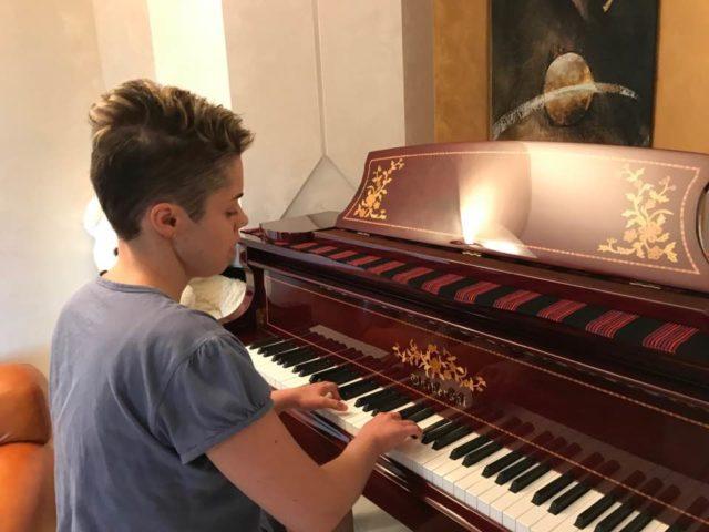 Cristina Turchi al pianoforte