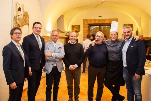 Da sinistra: Davide Feligioni, Mario D'Alesio, Giuseppe Cristini, Claudio Modesti, Alberto Tersino Mazzini, Serena D'Alesio e Gabriele Santarelli