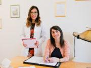 Da sinistra, le Dott.sse Jane Romaldoni e Jessica Stroppa