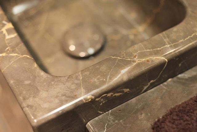 Dettaglio di piana in marmo