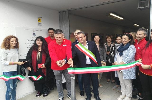 Il taglio del nastro del sottopasso a Osimo