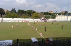 jesina - Campobasso: le squadre in campo al Carotti