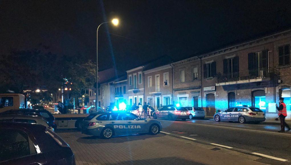 La polizia in via Flaminia dopo l'investimento
