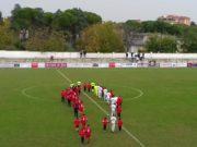 Jesina-Vastese, l'ingresso in campo delle squadre
