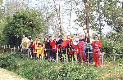 Studenti nell'Aula Verde di Falconara