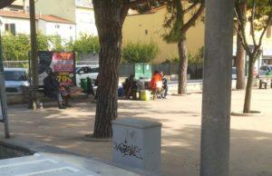 Bivacchi in piazza Catalani