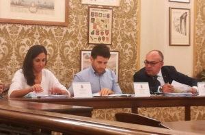 """I consiglieri (da sinistra) Giuseppina Codias, Andrea Santini e Massimo Bello, del gruppo consiliare """"Lega-Fratelli d'Italia-Autonomia per Ostra Vetere"""""""