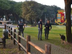 Controlli ai giardini Morandi da parte della Polizia di Senigallia