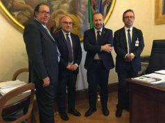 Da sinistra Davide Da Ros, Massimo Bello, Paolo Arrigoni, Milco Mariani