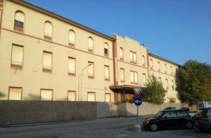 L'hotel Marche a Senigallia (lato parcheggio Morandi)