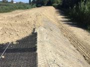 I lavori sugli argini del fiume Misa a Senigallia