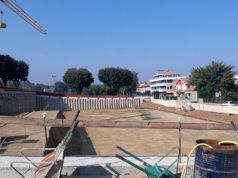 I lavori per il parcheggio in via Cellini, a Senigallia