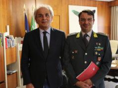 A sinistra il rettore Sauro Longhi e il comandante regionale delle Fiamme Gialle Fabrizio Toscano