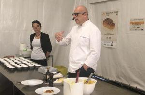 Lo show cooking di Paolo Brunelli a Senigallia per Pane Nostrum