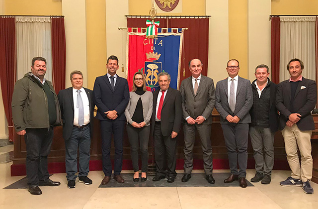 L'incontro in Comune tra l'amministrazione di Senigallia e i vertici federali e locali della scherma