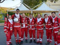 La squadra della Croce Rossa Italiana delle Marche che ha partecipato alla gara di Scalea (Cosenza)
