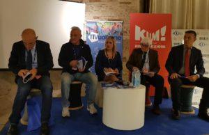 La presentazione dell'iniziativa alla Mole: da sin. Fabrizio Volpini, Michele Caporossi, Rossana Berardi, Franco Elisei e Massimiliano Marinelli