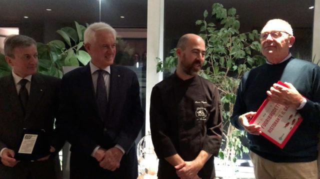 Chef Marco Vegliò premiato dall'Accademia della Cucina Italiana e da Confesercenti