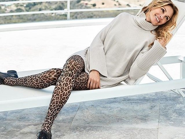 L'animalier veste le gambe di Julia Roberts
