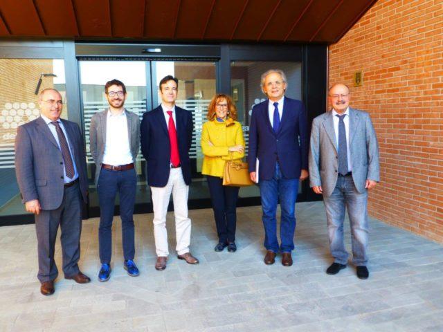 Sauro Longhi nella sede del Filo D'oro di Osimo