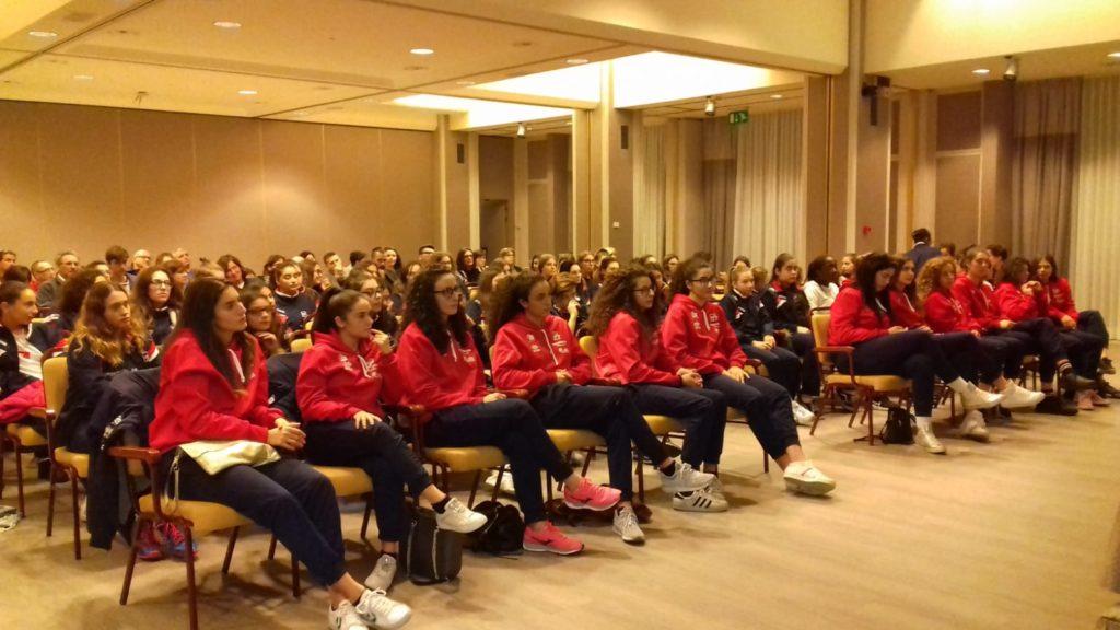 Le atlete del Gruppo Sportivo Pieralisi