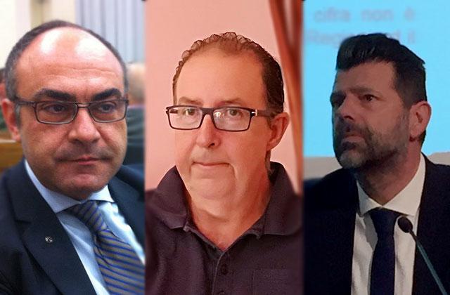 Da sinistra Massimo Bello, Davide Da Ros, Maurizio Mangialardi