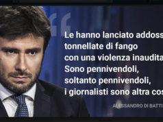 Alessandro Di Battista (M5S) e la polemica contro i giornalisti