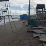 L'erosione della spiaggia a Marina di Montemarciano in un tratto privo di scogliere protettive