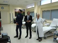 Da sinistra il sindaco Mangialardi, il direttore AV2 Bevilacqua e la direttrice del centro trasfusionale Daniela Spadini