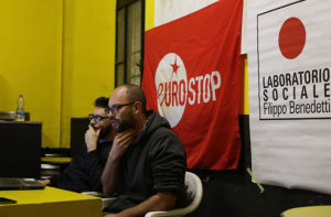 Un momento dell'incontro sull'Unione Europea promosso da Eurostop Marche e dal Laboratorio sociale F.Benedetti Senigallia