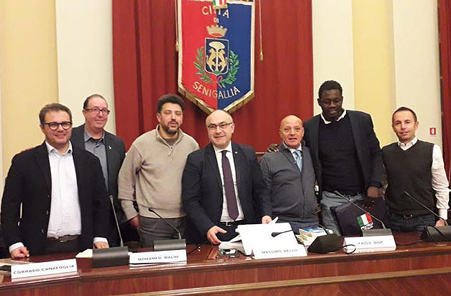 I relatori all'incontro sull'immigrazione tenutosi a Senigallia