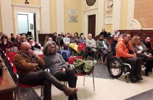 Il pubblico dell'incontro sull'immigrazione tenutosi a Senigallia