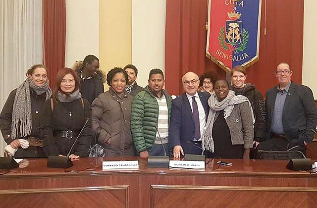 I rappresentanti della Lega all'incontro con i componenti della Consulta degli immigrati