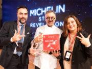 Lo chef Mauro Uliassi alla premiazione per le tre stelle Michelin 2019