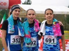 Il podio femminile del Cross Valmusone di Osimo vinto dalla giovanissima Francesca Tommasi