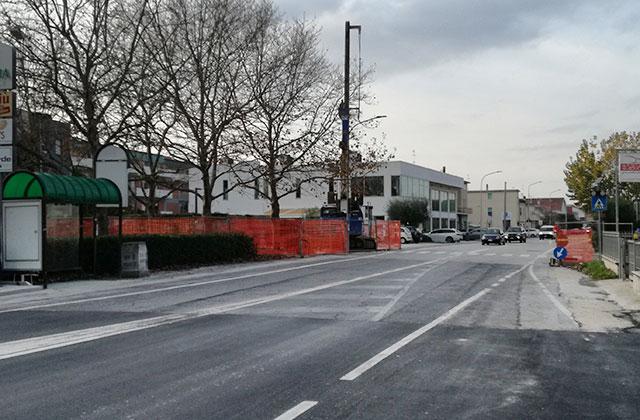 L'area del cantiere alla Cesanella per il nuovo sottopasso alla statale Adriatica