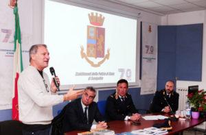 Luca Pagliari all'iniziativa sul cyberbullismo agli Stabilimenti della Polizia di Senigallia