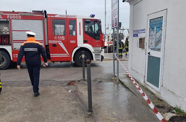 esercitazione anti incendio al porto di Senigallia
