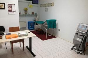 La sala della sede Andos di Senigallia per le visite mediche