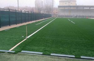 I lavori per il nuovo manto erboso allo stadio Bianchelli di Senigallia