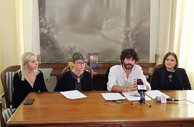 La giunta di Corinaldo: da sinistra Giorgia Fabri, Lucia Giraldi, Matteo Principi e Rosanna Porfiri